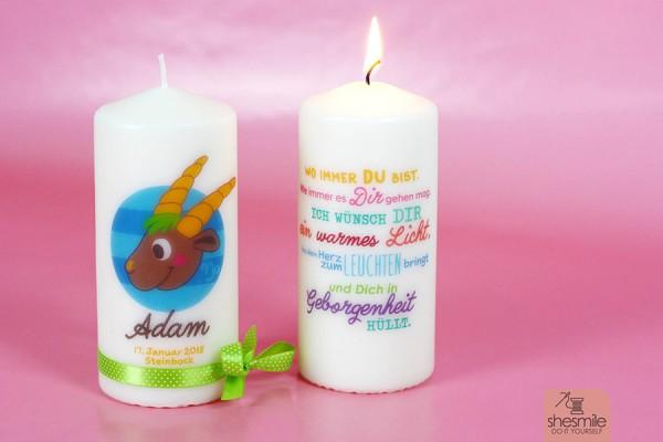 Kerzen bedrucken mit Servietten (Bastelanleitung und Druckvorlage)