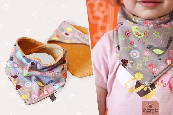 Halstuch für Babys und Kinder (Nähanleitung und Schnittmuster)