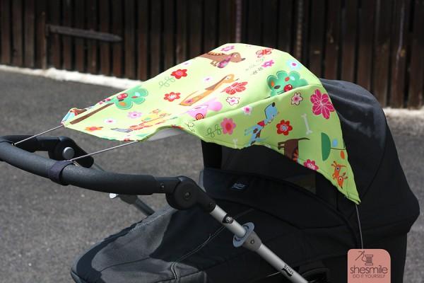 Sonnensegel für den Kinderwagen (Nähanleitung und Schnittmuster)