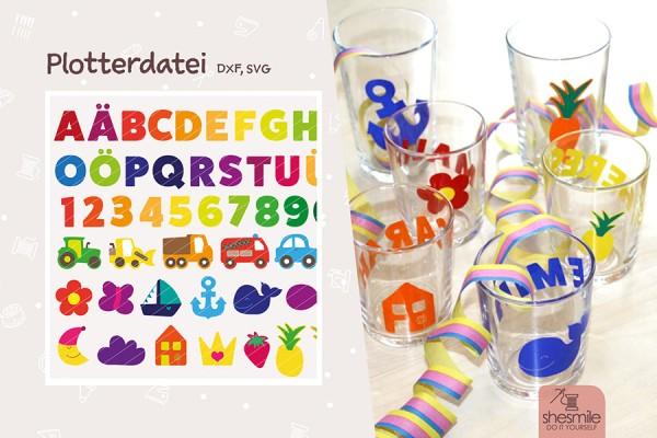 """Buchstaben & Formen """"Letterello"""" (Plotterdatei)"""