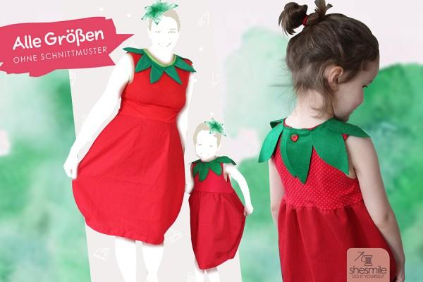 """Kostüm """"Erdbeere-Ballonkleid"""" (Nähanleitung für alle Größen)"""