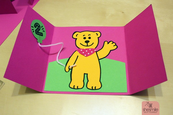 """Einladungskarte """"Bärengeburtstag"""" (Bastelanleitung & Zeichenvorlage)"""