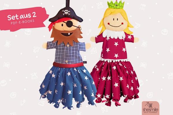 """Adventskalender-Set """"Pirat & Prinzessin"""" (Nähanleitung und Schnittmuster)"""
