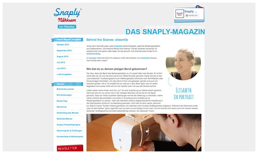 Behind the Scenes: shesmile im Snaply Magazin shesmile